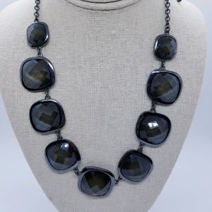 NY& CO Gun Metal Brown Shimmer Statement Necklace